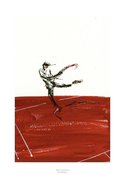 Fine art gyclee print of tennis player from the Davis Cup