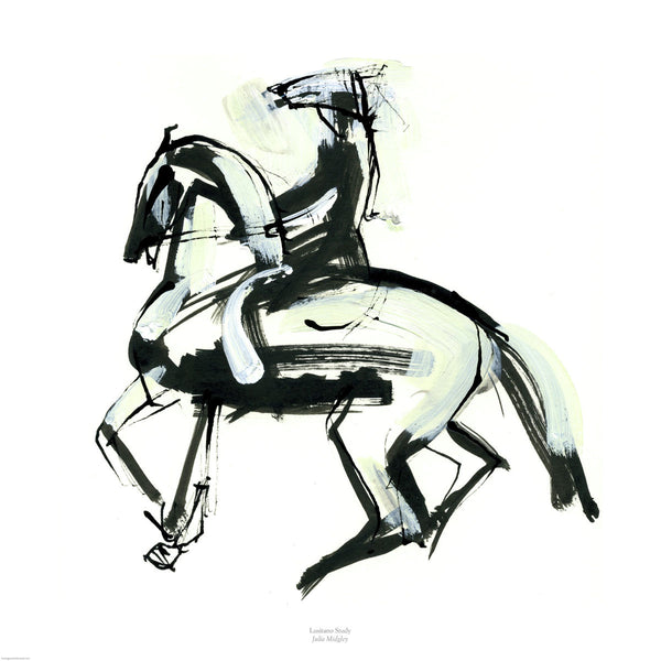 Fine art giclee print of horse and rider