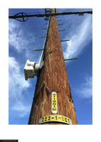 Fine art giclée photoprint of a Los Angeles telegraph pole