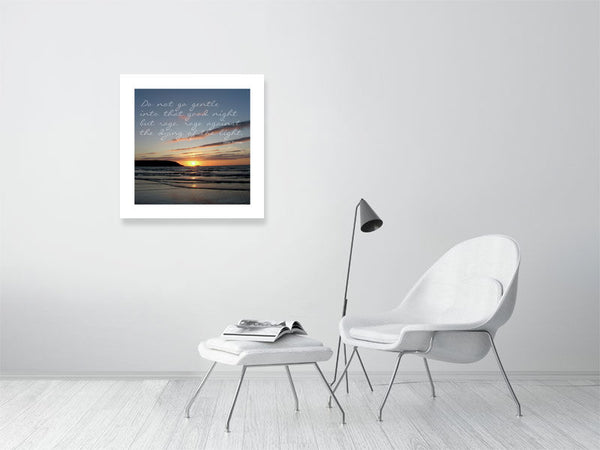 Fine art photo print with poem. Designed by Steve Parker