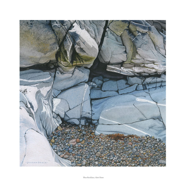 Blue Rockface, Aber Draw by Graham Brace