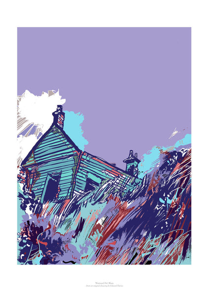 Fine art print of Westward Ho! in blues.