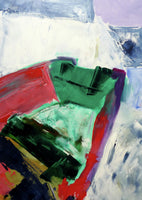 Fine art giclée print of a semi abstract boat