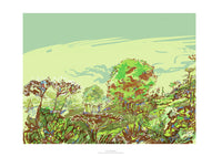 Summer meadow by the River Severn, fine art giclee print