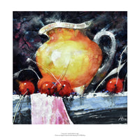 Cherries and Yellow Jug by Al Blethyn