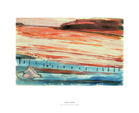 Fine art gyclee print of a beach in North Wales