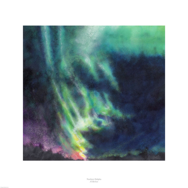 Fine art giclée print of the Northern Lights in stunning pastel