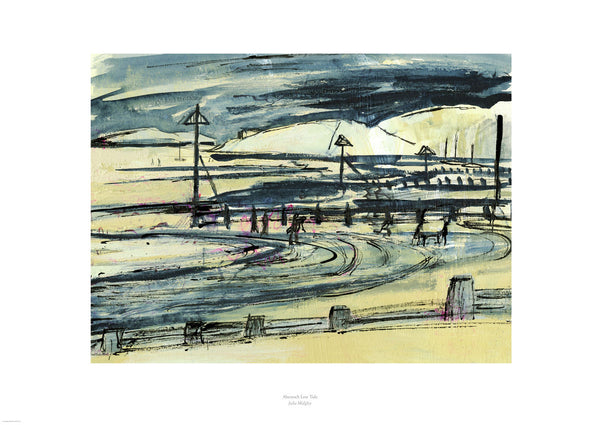 Fine Art Giclée Print - Abersoch Beach, North Wales, Low Tide - Julia Midgley