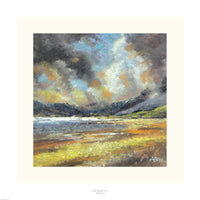 Fine art gyclee print of a view over the mountains in Wales