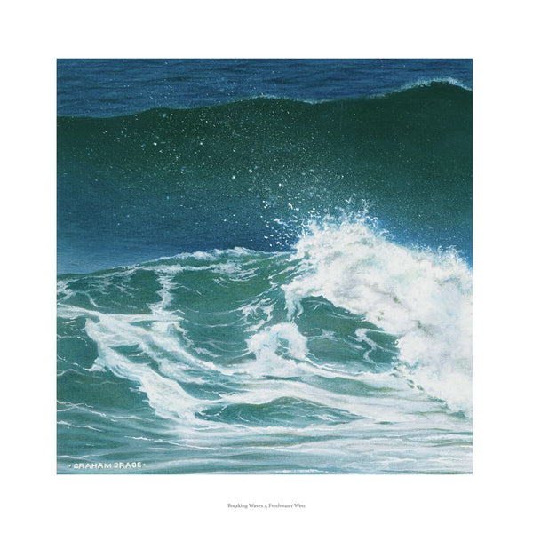 Breaking Waves 2, Freshwater West by Graham Brace