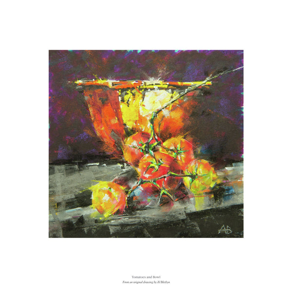 Tomatoes and Bowl by Al Blethyn