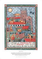 Fine art giclee print of a tale relating to Gloucester and Cats