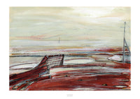 Fine art giclee print of a North Wales beach in winter