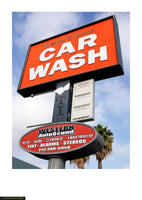 Fine art giclée photoprint of car wash sign in Los Angeles