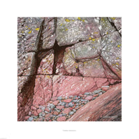Fine art giclée print of a rock face in Wales