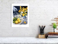 Fresias and Lemons by Rosalind Forster