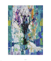 Fine art giclée print of flowers in a jug