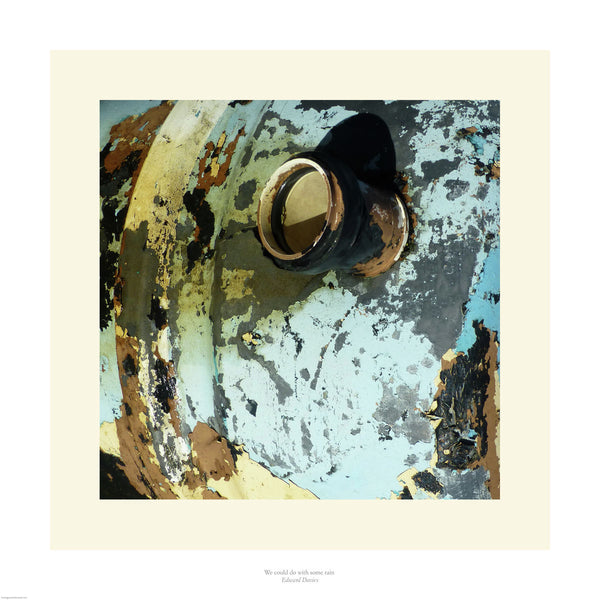 Fine art photograph of a decaying water drum.