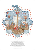 Fine art giclee print of fable of a ship by a master of the art