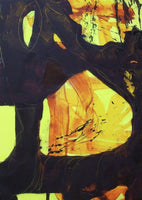 Fine art abstract gyclee print in yellow and black