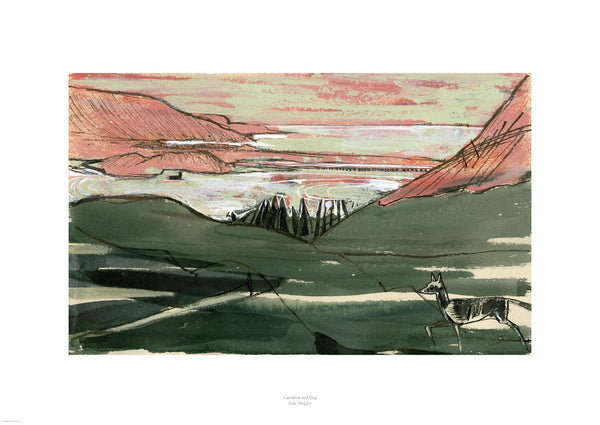 Fine art giclee print of a landscape in North Wales