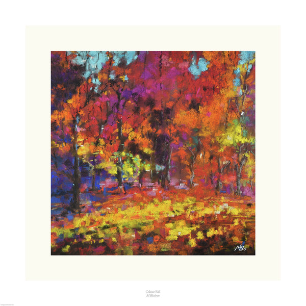Fine art giclée print of woods in vibrant colour