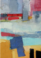Fine art giclée print of semi abstract of oyster sheds in France
