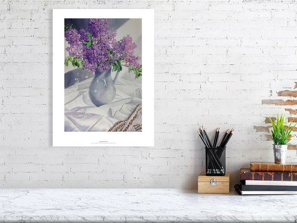 Lilac Jug and Linen by Rosalind Forster