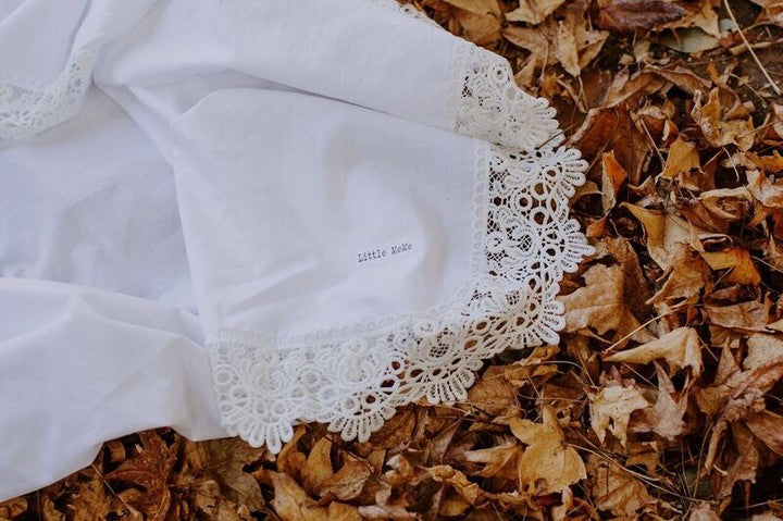 Luxe Lace Wrap White