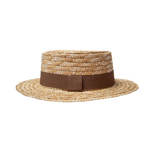 Boater Hat Brown Band