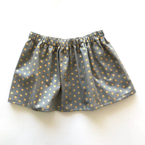 Grey and Gold Spot Skirt