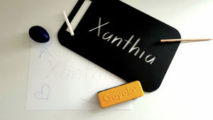 My First Name Stencil & Chalkboard - School Font