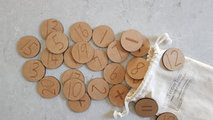Magnetised Number & Math Symbol Discs