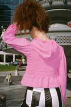 Load image into Gallery viewer, TWICE CRUSHED HOODIE IN PINK