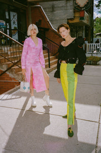 PATCHWORK CIGARETTE PANT IN SPRITE
