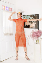 Load image into Gallery viewer, MESH DRESS IN ORANGE - Michons Marigot