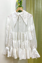 Load image into Gallery viewer, WHITE PIERROT DRESS - 3_3_4_7
