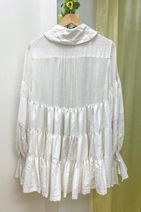 WHITE PIERROT DRESS - 3_3_4_7