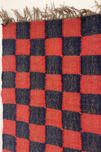 Load image into Gallery viewer, RED AND BLUE CHECKERED RUG - Ancán