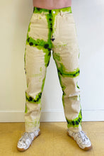 Load image into Gallery viewer, SPA BOY COLLAB TIE DYE BASIC JEAN IN ORANGE/BLACK and GREEN/BLACK
