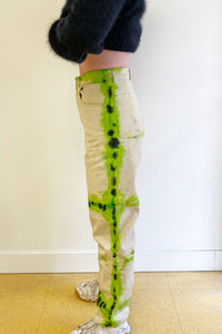 SPA BOY COLLAB TIE DYE BASIC JEAN IN ORANGE/BLACK and GREEN/BLACK