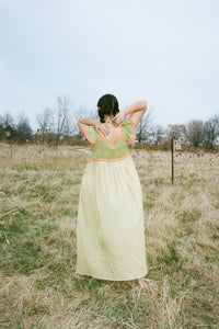 HAND CROCHETED ANNA DRESS IN MOSS