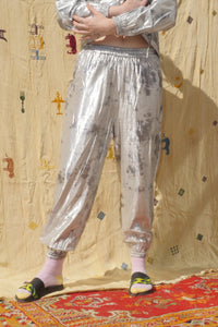 SHIMMA TRACK PANTS IN SILVER - Nor Black Nor White