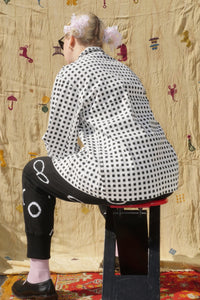 YIN YANG WORKERS JACKET IN BLACK/WHITE CHECK - Nor Black Nor White
