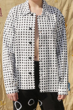 Load image into Gallery viewer, YIN YANG WORKERS JACKET IN BLACK/WHITE CHECK - Nor Black Nor White