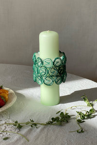 FLORACIÓN CANDLE IN PISTACHIO/BLACK/ROSA MULTI