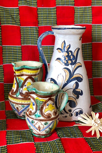 SMALL ITALIAN MAIOLICA IN BROWN/YELLOW/TURQUOISE