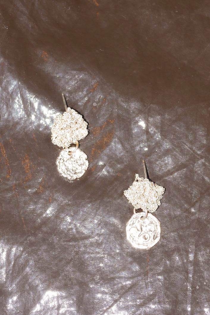 CURRENCY EARRINGS IN SILVER S2005