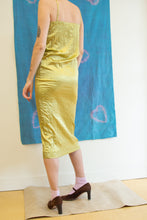 Load image into Gallery viewer, SATIN CRINKLE DRESS IN GREEN