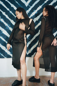 YIANNA LONG SLEEVE DRESS IN BLACK